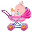 The child in a carriage — Stock Vector