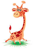Cheerful giraffe — Stock Vector