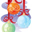 Ornaments for Christmas — Stock Vector