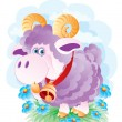 The young ram - Stock Vector