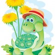 Stock Vector: Turtle among colors