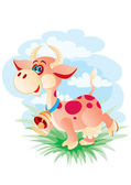 The cheerful cow — Stock Vector