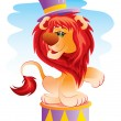 Lion in circus — Stock Vector