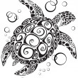 Turtle a silhouette — Vector de stock  #1659594