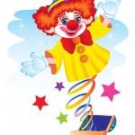 clown-överraskning — Stockvektor