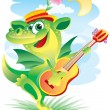 Royalty-Free Stock Vector Image: Singing dragon