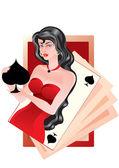 Queen of spades — Stock Vector