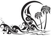 The black sea — Stock Vector