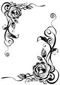 Decorative roses — Stock Vector