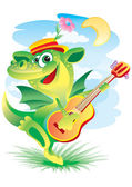Singing dragon — Stock Vector
