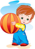 The child with a ball — Stock Vector