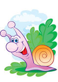 Cheerful snail — Stock Vector
