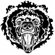 oso negro — Vector de stock