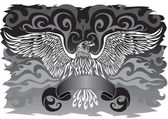 Banner with an eagle — Stock Vector