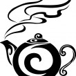 Teapot black - Stock Vector