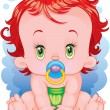 The baby — Stock Vector