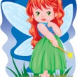 The magic fairy - Stockvectorbeeld