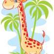 Stock Vector: Big giraffe