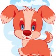 Stock Vector: Lovely puppy