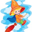 Small witch — Stock Vector