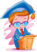 The graduate of school — Stock Vector