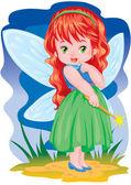 The magic fairy — Stock Vector