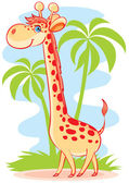 The big giraffe — Stock Vector