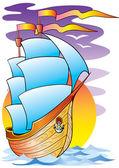The big ship — Stock Vector