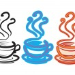 Royalty-Free Stock Vector Image: Three cups