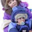 Royalty-Free Stock Photo: Small children are very glad to winter