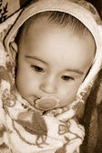 The sad kid — Stock Photo