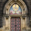Entrance in church — Stock Photo
