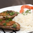 Chicken with rice — Stock Photo #1467216