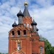 Stock Photo: Red Church with black cupolas