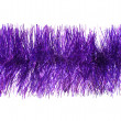 Violet tinsel — Stock Photo