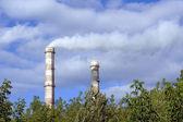 Dos tubos de fábrica — Foto de Stock