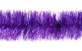 Violet tinsel — Stock Photo