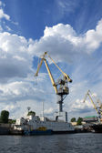 Crane in a port — Stock Photo