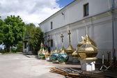 Shining cupolas — Stock Photo