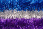 Tinsel background — Stock Photo