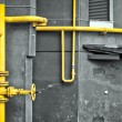Yellow gas pipe — Stock Photo