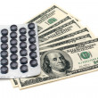 Royalty-Free Stock Photo: Pills and money