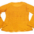 Orange knitted jacket — Stock Photo #1489380