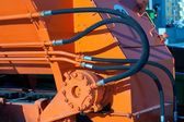 Hydraulic hoses of tractor — Stock Photo