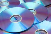 Fundo de Dvds — Fotografia Stock