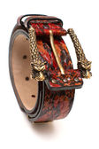 Belt with Dragon buckle — Stock Photo