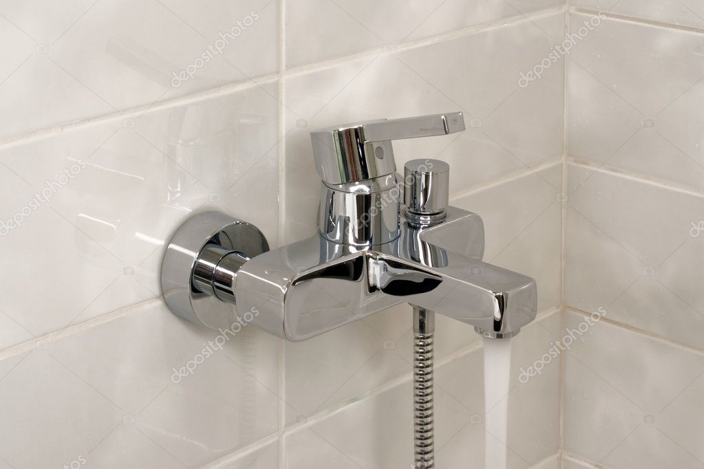 Water stream from modern faucet  Stock Photo #1481998