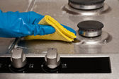 Cleaning a kitchen — Stock Photo