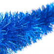 Christmas blue tinsel — Foto Stock