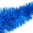 圣诞蓝色金属丝 — 图库照片